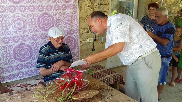 Долгожитель Красноперекопского района отметил свой юбилей