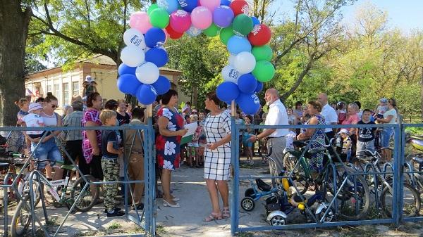 В Нижнегорском районе появилась новая детская площадка