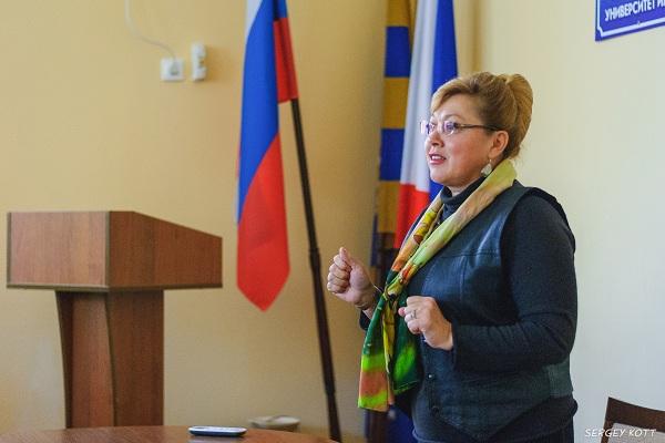 Светлана Савченко встретилась со студентами Евпаторийского института